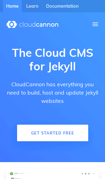 CloudCannon  Web Design