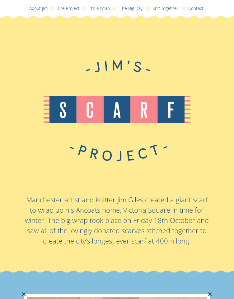 Jim's Scarf Project  Web Design