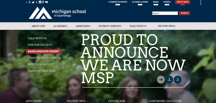 michigan school of professional psychology essay The michigan school of professional psychology confers the master of arts (ma) in clinical psychology to graduate students who successfully complete the 47-credit program the master's program runs as a cohort, which means students enter and progress through the program together as a unit.