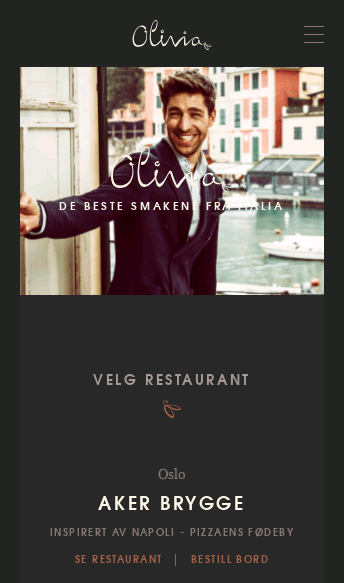 Olivia Restaurant  Web Design