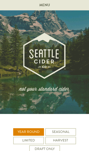 Seattle Cider Company  Web Design