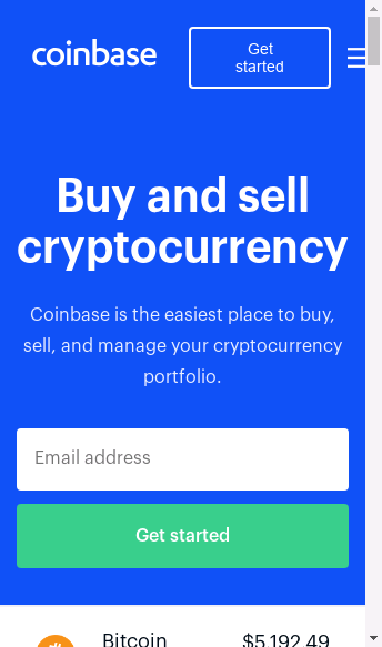 Coinbase  Web Design