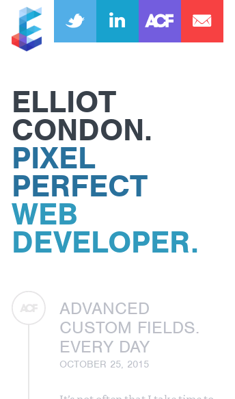 Elliot Condon  Web Design
