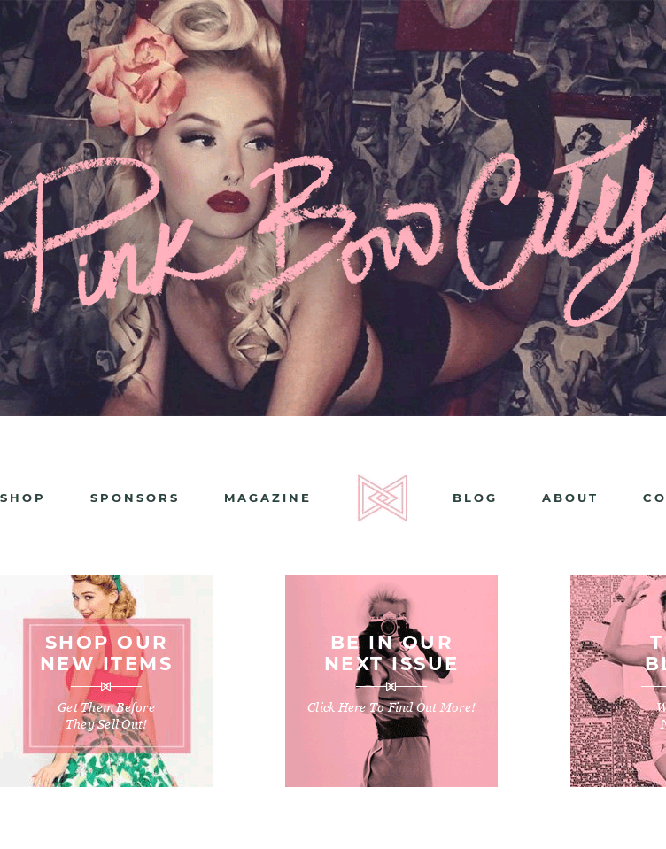 Pink Bow City  Web Design