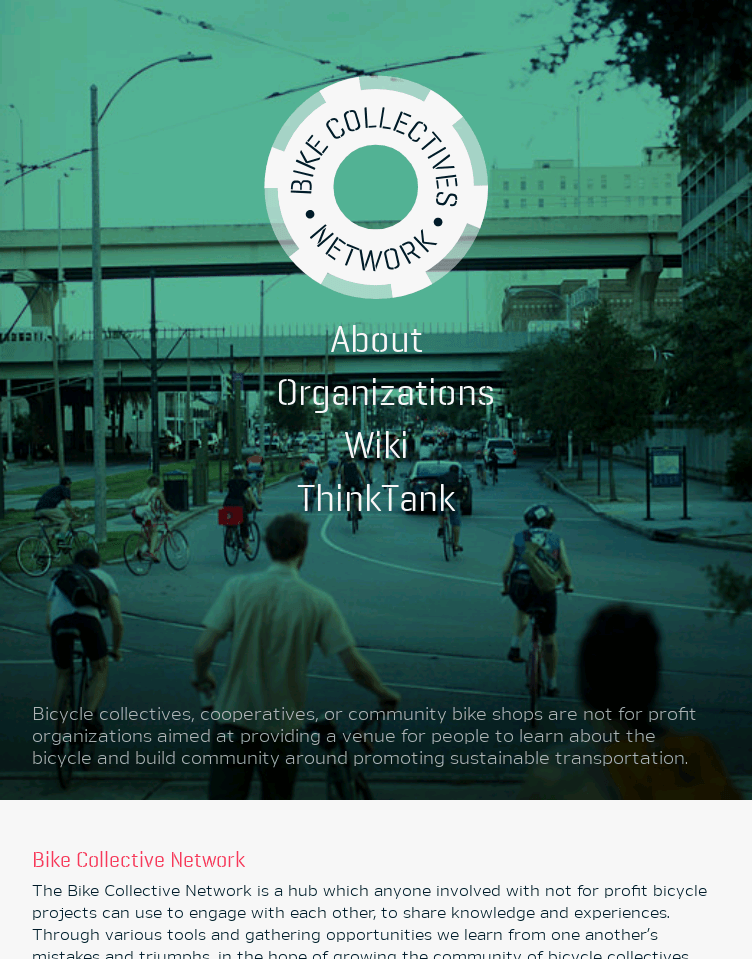 Bike Collectives Network  Web Design