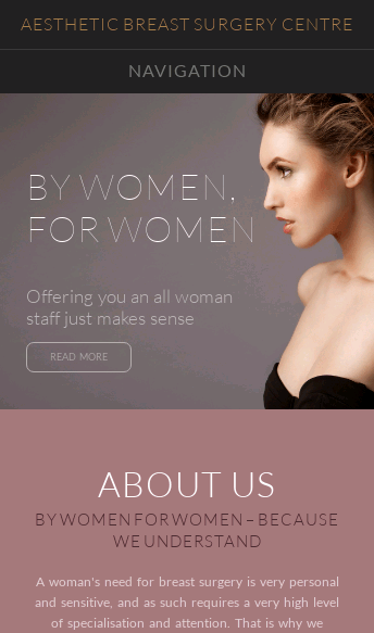 Aesthetic Breast Surgery Centre  Web Design