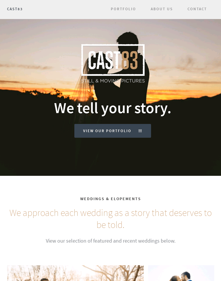 CAST83 | Still & Moving Pictures  Web Design