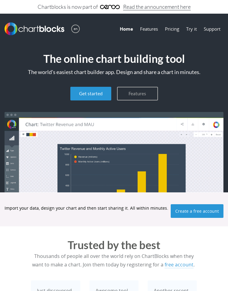 ChartBlocks  Web Design