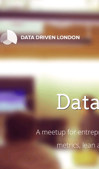 Data Driven London Meetup  Web Design