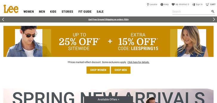 Lee Jeans - Modern Man website has a Great Web Design | Best Web ...