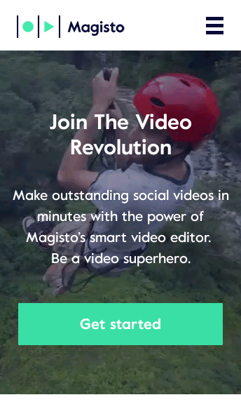 Video Editing By Magisto  Web Design