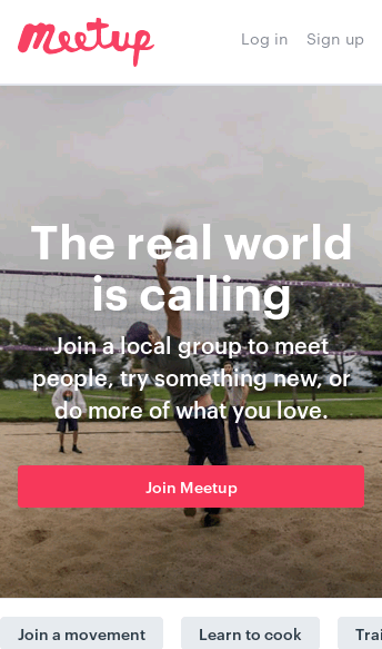 Meetup  Web Design