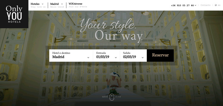 Only You Hotel Website Has A Great Web Design Best Web