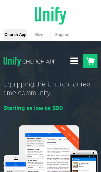 Unify: Church App  Web Design