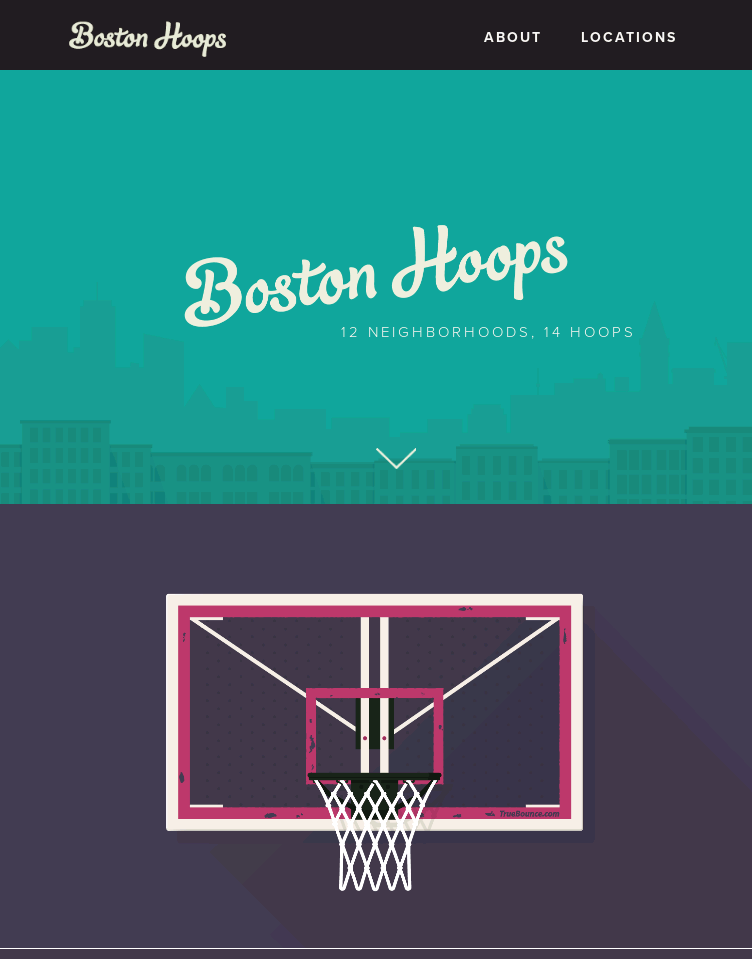 Boston Hoops  Web Design