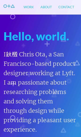 Chris Ota Designs  Web Design