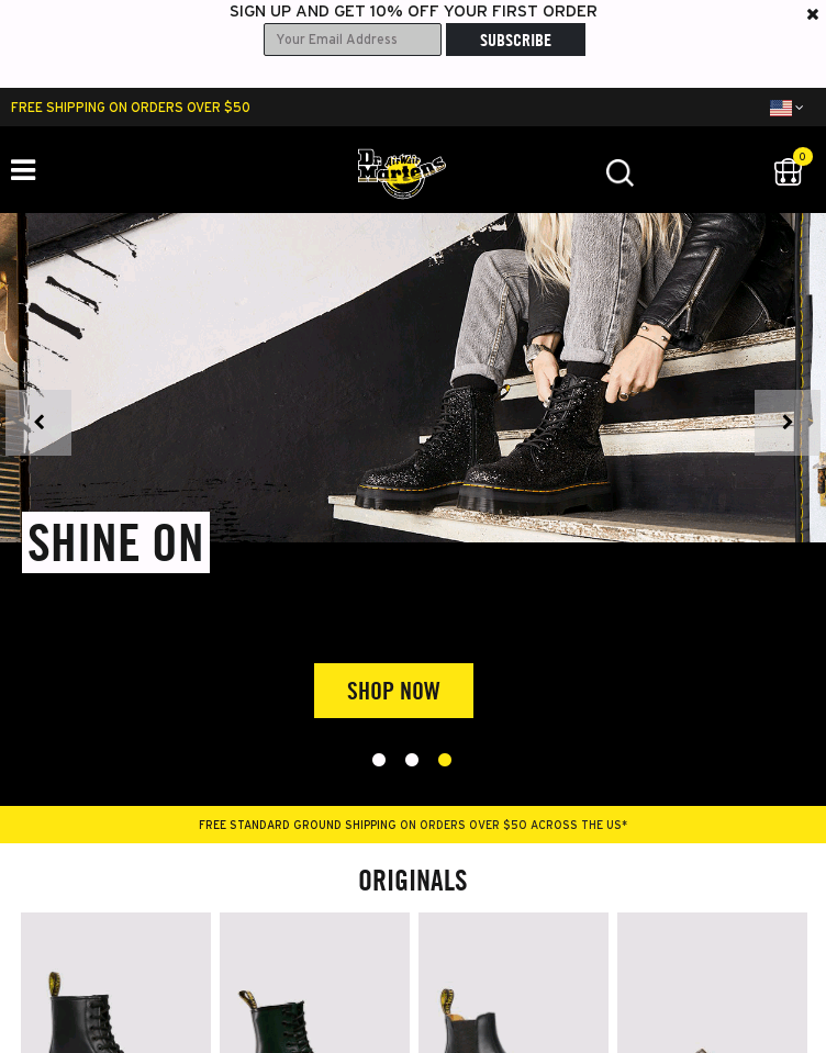 Dr. Martens Official  Web Design