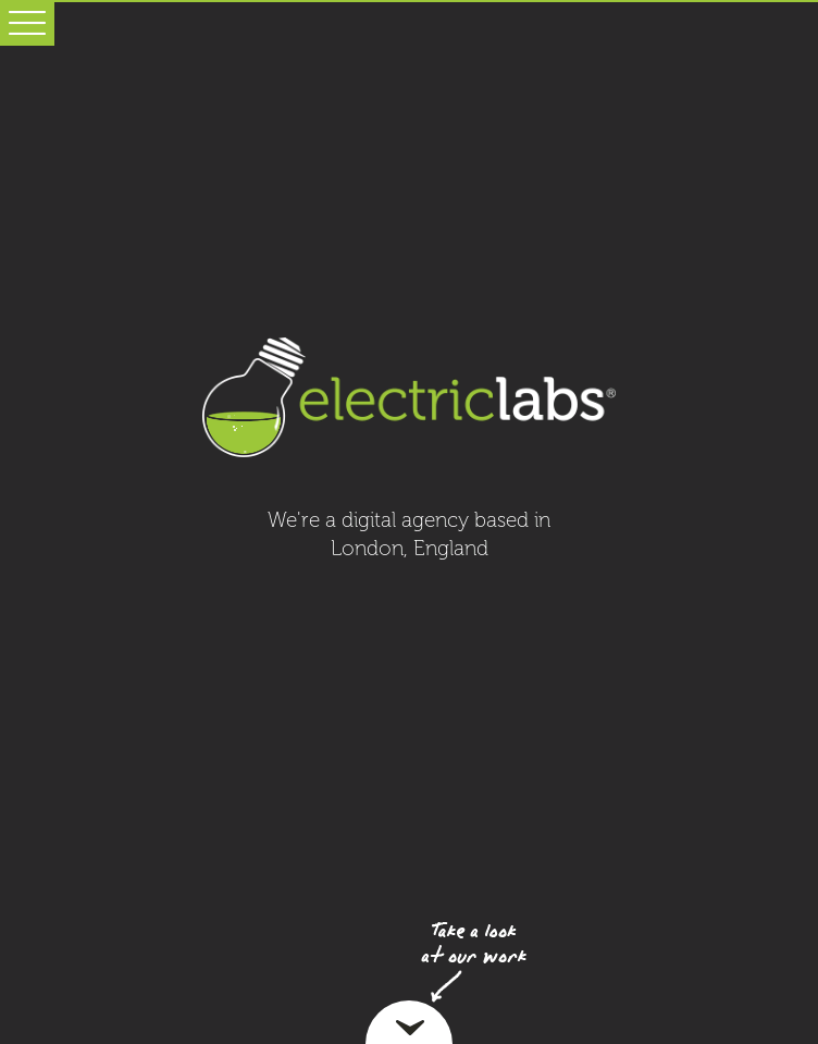 Electric Labs  Web Design