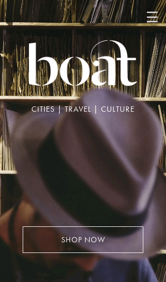 Boat magazine	  Web Design
