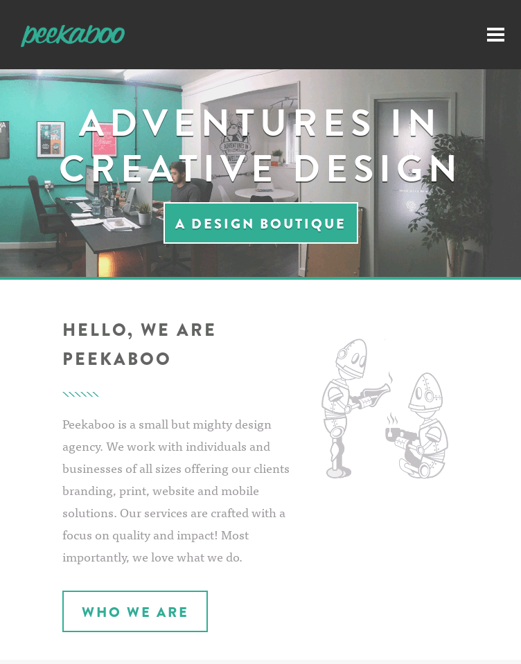 Peekaboo Design Agency  Web Design