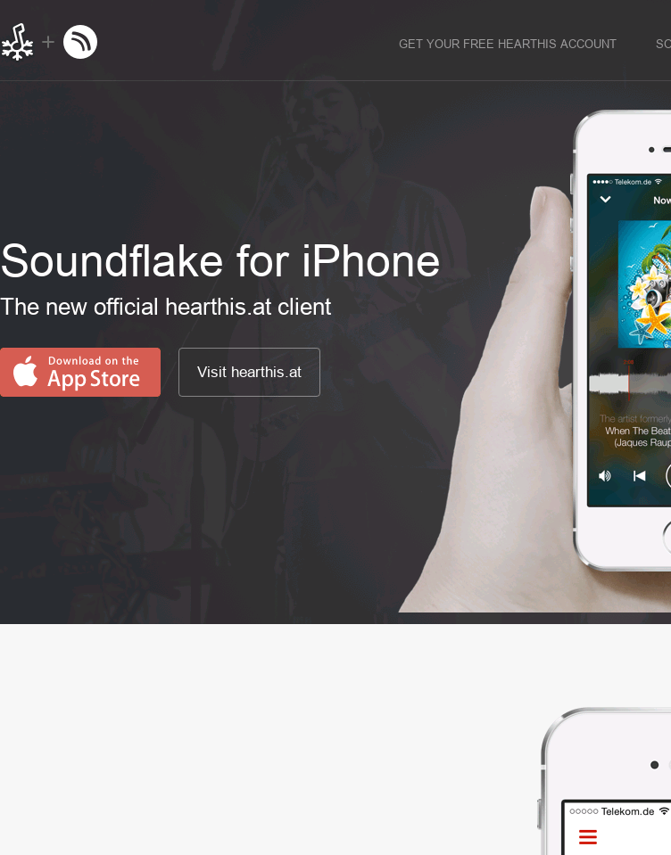 Soundflake  Web Design