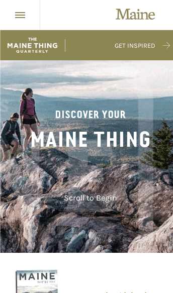 Visit Maine  Web Design