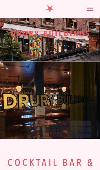 Drury Buildings Restaurant in Dublin  Web Design
