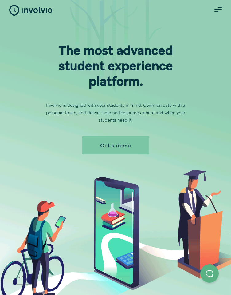 The Most Advanced Student Success Platform » Involvio  Web Design