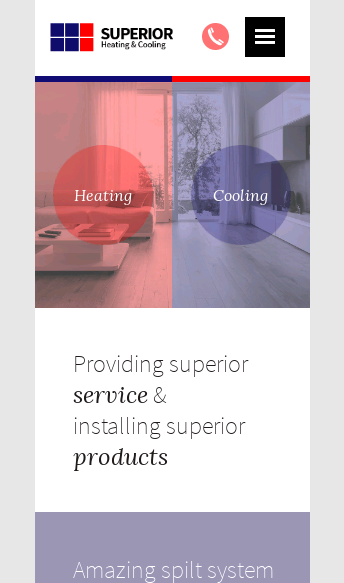 Superior Heating & Cooling  Web Design