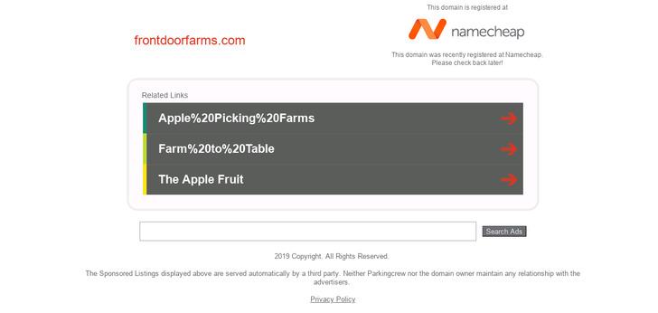 Front Door Farms Website Has A Great Web Design Best Web Designs