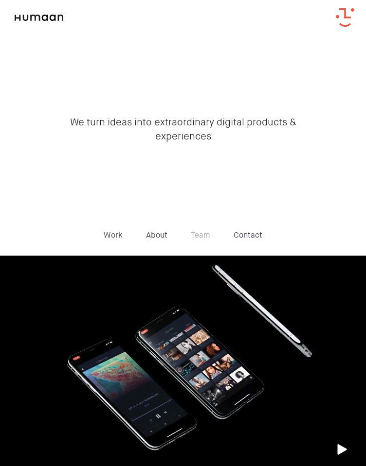 Humaan digital products  Web Design