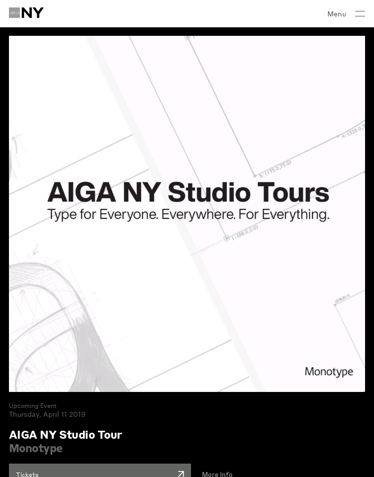 AIGA New York Chapter     Web Design
