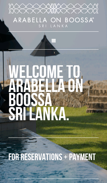 Arabella On Boossa  Web Design
