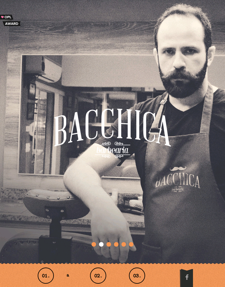 Bacchica Barbearia  Web Design