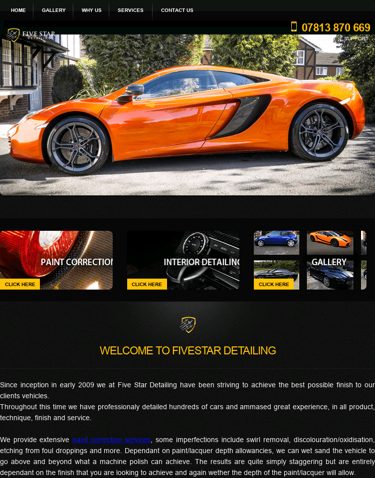 Five Star Detailing  Web Design