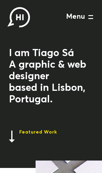 I am Tiago - Graphic & Web Designer  Web Design