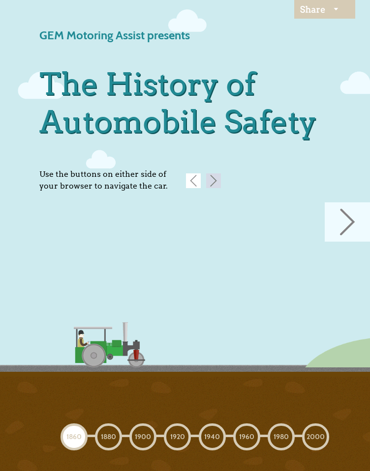 The History of Automobile Safety  Web Design