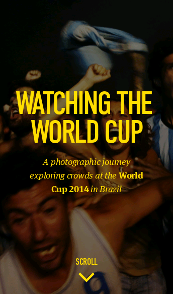 Watching the World Cup  Web Design