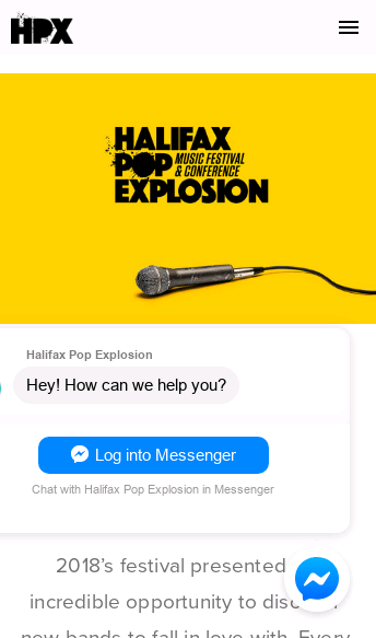 Halifax Pop Explosion  Web Design