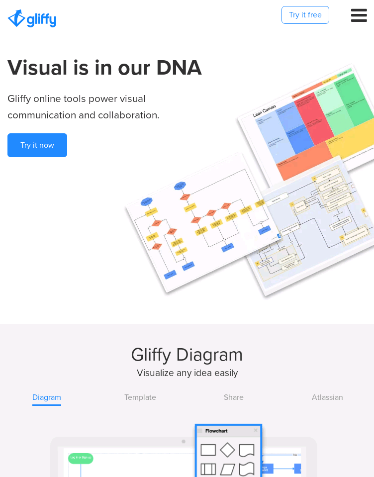 Gliffy Diagramming Software  Web Design