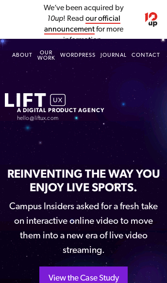 Lift UX  Web Design