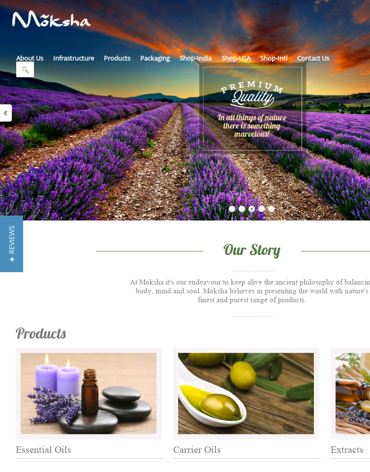 Essential Oils India  Web Design