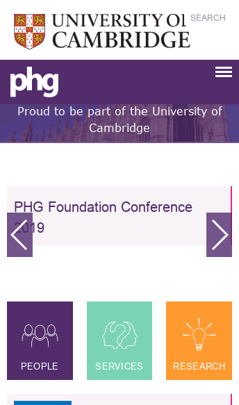 PHG Foundation  Web Design