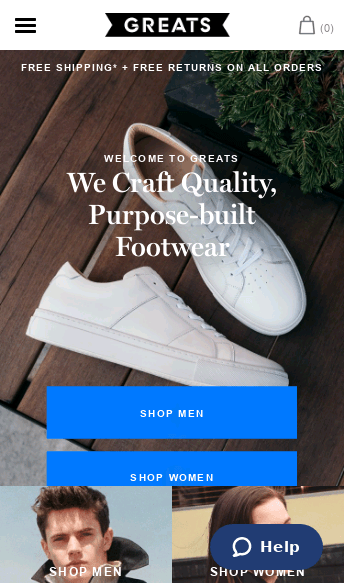 greats.com  Web Design
