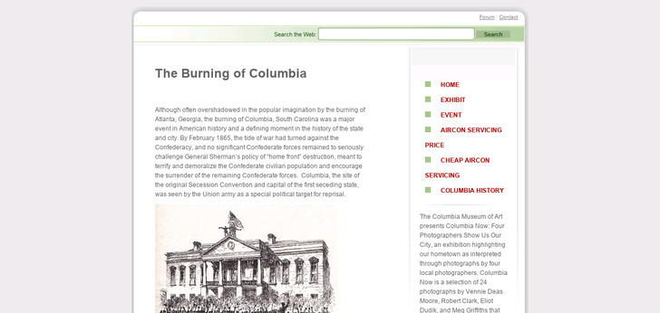 Burning of Columbia - Home