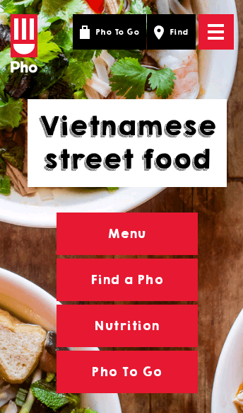 Pho Restaurants  Web Design