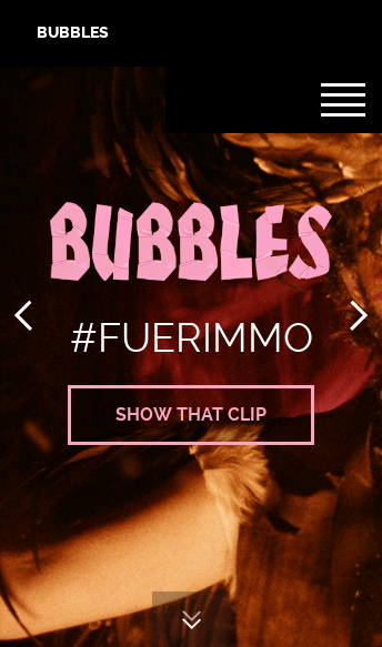 Bubbles Film  Web Design