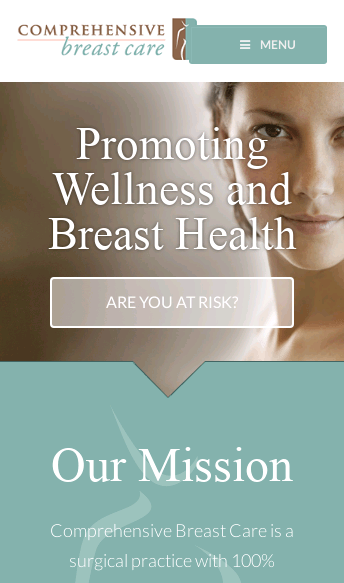 Comprehensive Breast Care  Web Design