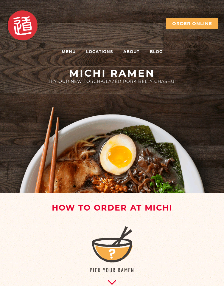 Michi Ramen  Web Design