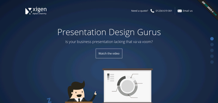 business presentation and powerpoint designers website has a great
